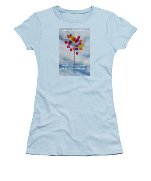 No Boundaries Women's T-Shirt (Athletic Fit)
