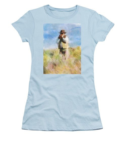 Women's T-Shirt (Junior Cut) featuring the painting No Useless Cares by Greg Collins