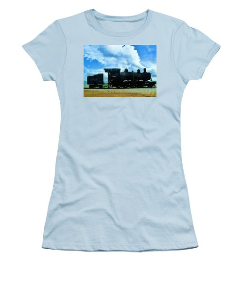 Norfolk Western Steam Locomotive 917 Women's T-Shirt (Junior Cut) by Janette Boyd