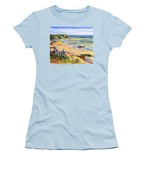 Normandy Beach Women's T-Shirt (Athletic Fit)