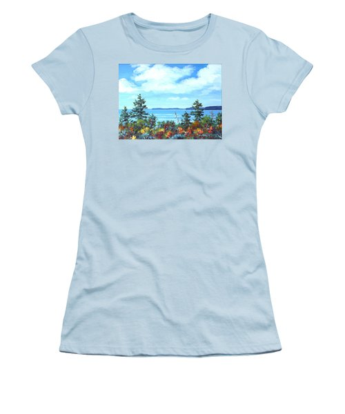 North Sky Sketch Women's T-Shirt (Athletic Fit)