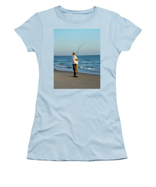 Women's T-Shirt (Junior Cut) featuring the photograph Ocean Fishing by Cynthia Guinn
