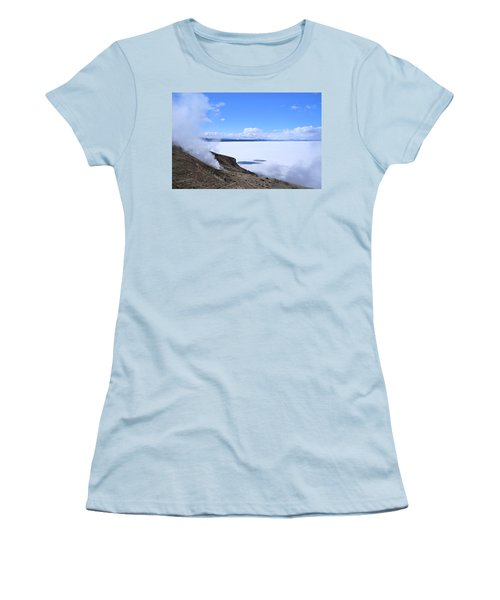 Women's T-Shirt (Junior Cut) featuring the photograph On The Edge Of Lake Yellowstone by Michele Myers