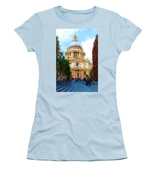 On The Steps Of Saint Pauls Women's T-Shirt (Junior Cut) by Jenny Armitage