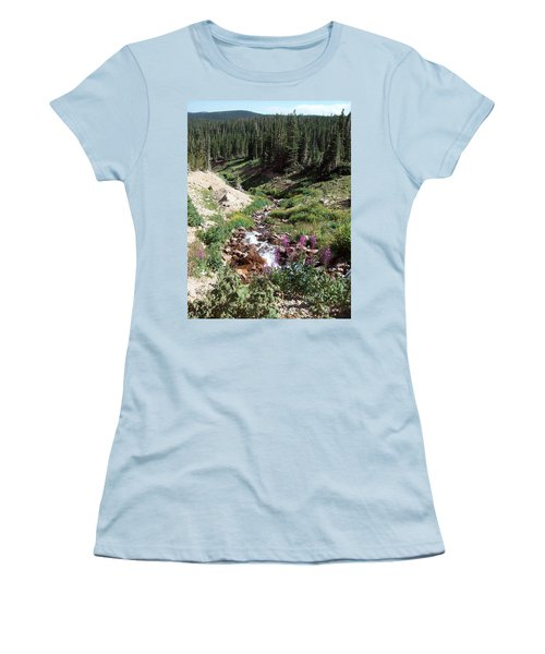 On Top Of The Continental Divide In The Rocky Mountains Women's T-Shirt (Athletic Fit)