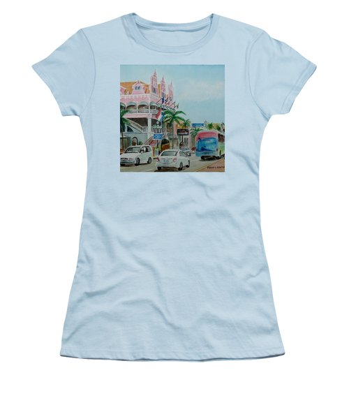 Oranjestad Aruba Women's T-Shirt (Junior Cut) by Frank Hunter