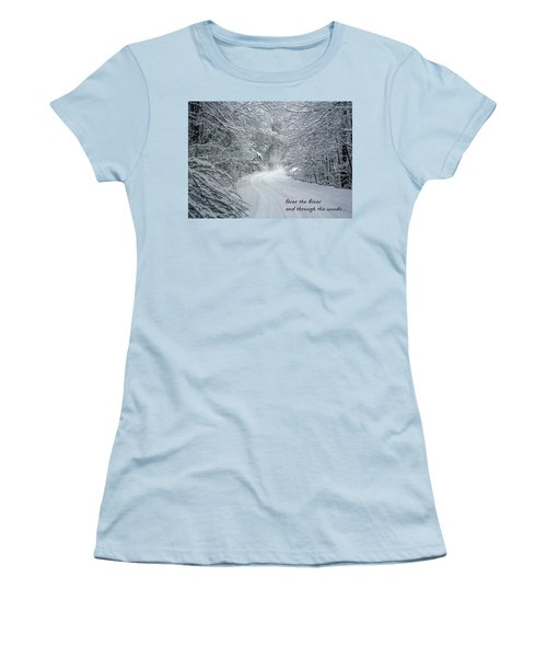 Over The River Women's T-Shirt (Junior Cut) by John Haldane