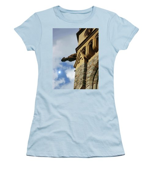 Packer Memorial Church Gargoyle Women's T-Shirt (Junior Cut) by Jacqueline M Lewis