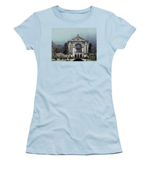 Women's T-Shirt (Junior Cut) featuring the digital art Painted Basilica 2 by Teresa Zieba