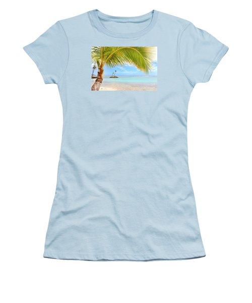 Women's T-Shirt (Junior Cut) featuring the photograph Palm Tree by Kristine Merc