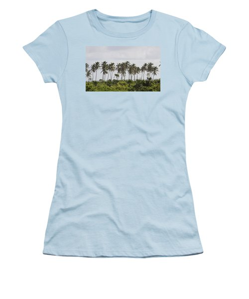 Palm Trees Women's T-Shirt (Athletic Fit)