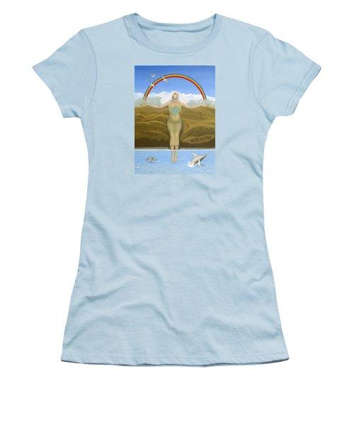 Papatuanuku / Capricorn Women's T-Shirt (Junior Cut) by Karen MacKenzie