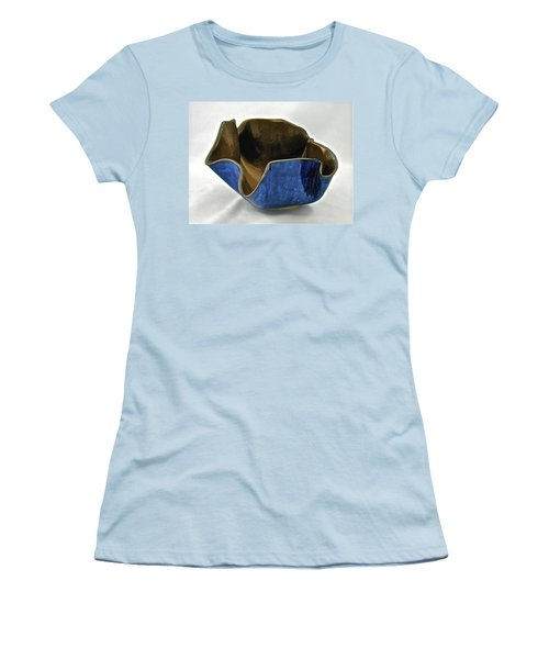 Women's T-Shirt (Junior Cut) featuring the sculpture Paper-thin Bowl  09-005 by Mario Perron