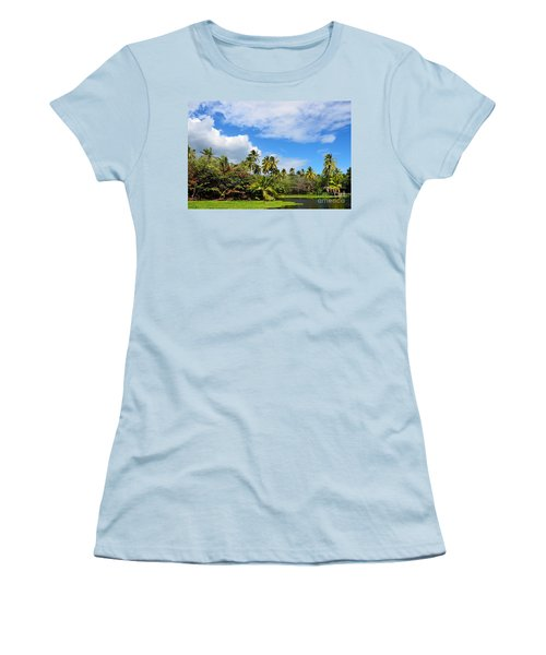 Paradise Lagoon Women's T-Shirt (Athletic Fit)