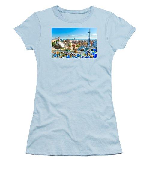 Park Guell - Barcelona Women's T-Shirt (Junior Cut) by Luciano Mortula