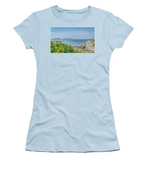 Women's T-Shirt (Junior Cut) featuring the photograph Path To The Cove by Jane Luxton
