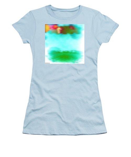 Women's T-Shirt (Junior Cut) featuring the digital art Peaceful Noise by Anita Lewis