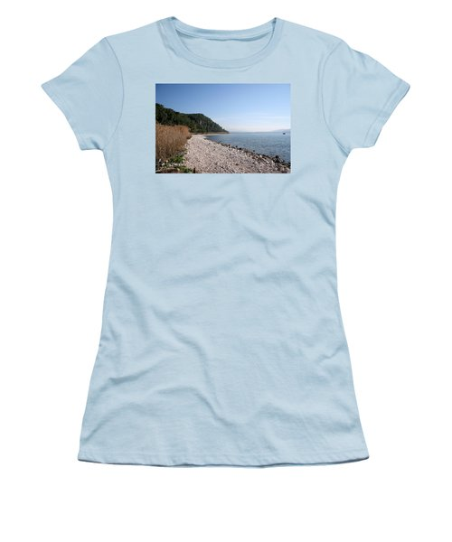 Women's T-Shirt (Junior Cut) featuring the photograph Pebbled Beach by Tracey Harrington-Simpson