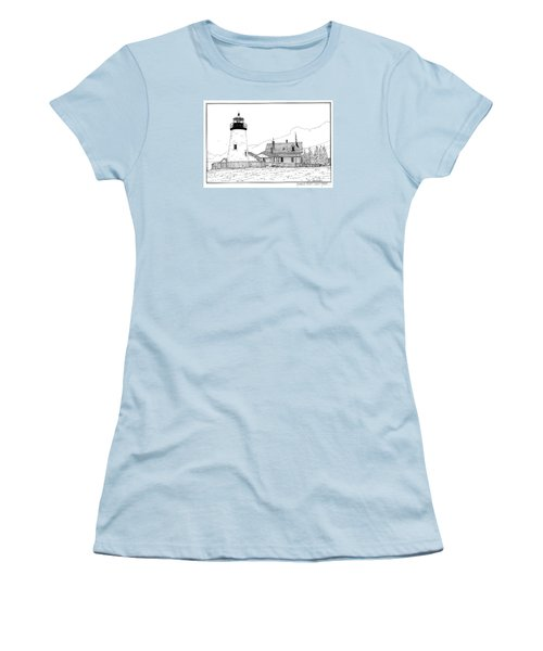 Pemaquid Point Lighthouse Women's T-Shirt (Athletic Fit)