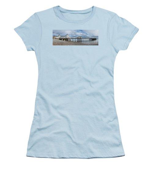 Penarth Pier Panorama 1 Women's T-Shirt (Junior Cut) by Steve Purnell