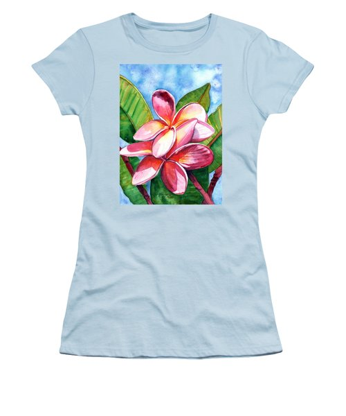 Playful Plumeria Women's T-Shirt (Athletic Fit)