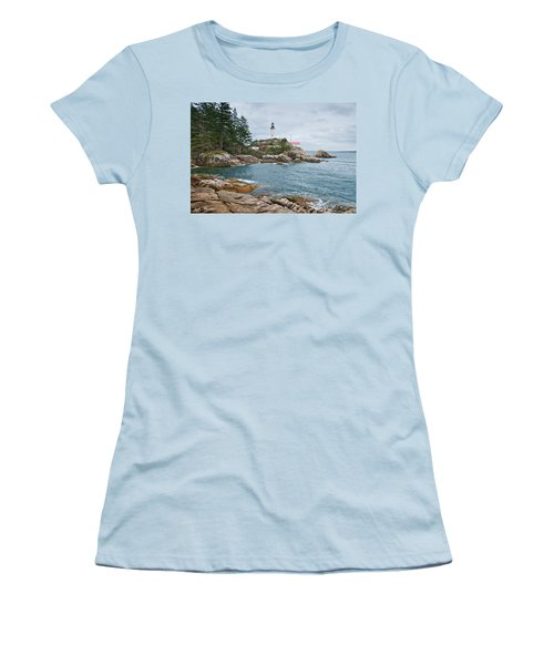 Point Atkinson Lighthouse And Rocky Shore Women's T-Shirt (Athletic Fit)