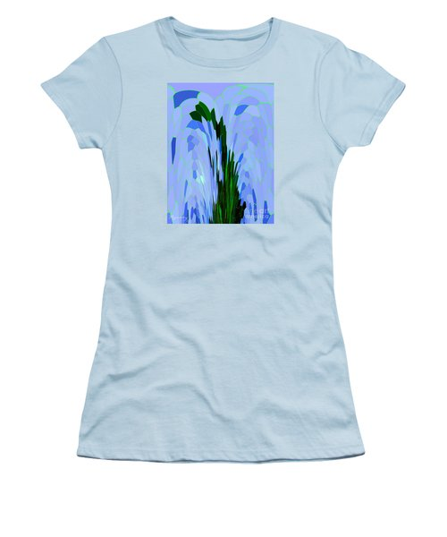 Women's T-Shirt (Junior Cut) featuring the digital art Point Of View by Mariarosa Rockefeller