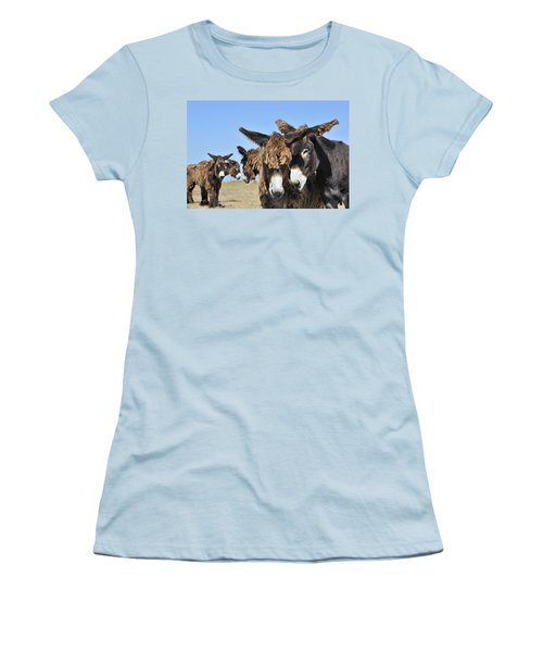 Women's T-Shirt (Junior Cut) featuring the photograph Poitou Donkey 3 by Arterra Picture Library