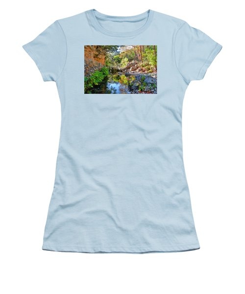 Pond At Lost Maples Women's T-Shirt (Athletic Fit)