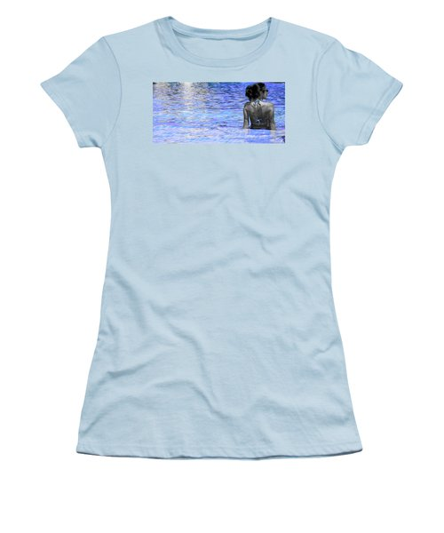 Women's T-Shirt (Junior Cut) featuring the photograph Pool by J Anthony