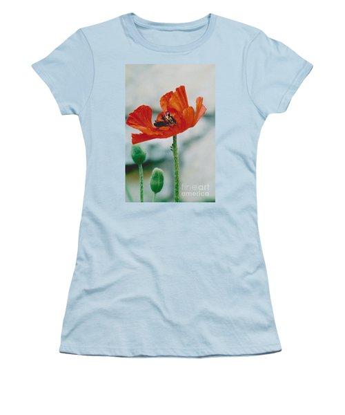 Poppy - 1 Women's T-Shirt (Junior Cut) by Jackie Mueller-Jones