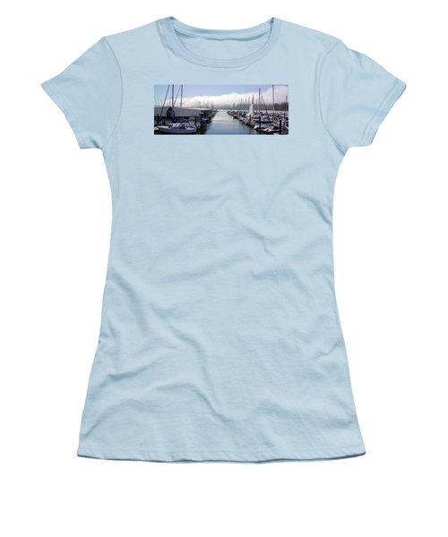 Women's T-Shirt (Junior Cut) featuring the photograph Port Kingston Marina by Greg Reed