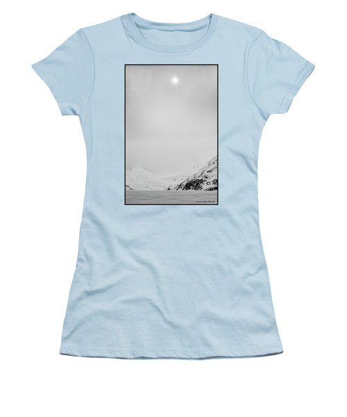 Portage Lake In Fog Women's T-Shirt (Athletic Fit)
