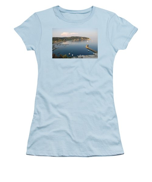 Women's T-Shirt (Junior Cut) featuring the photograph Porto Bay by George Katechis