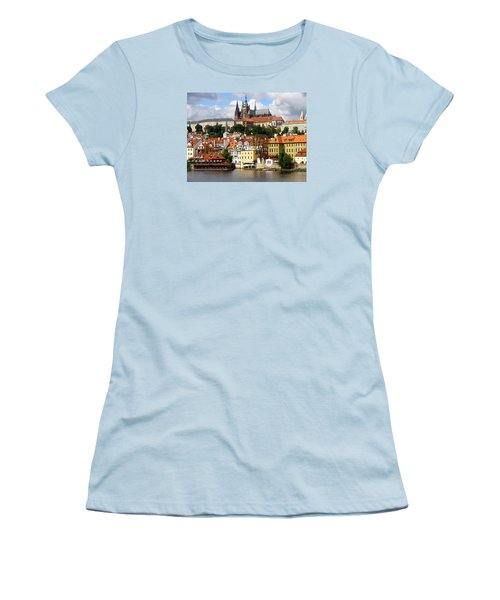Women's T-Shirt (Junior Cut) featuring the photograph Prague Skyline by Ira Shander