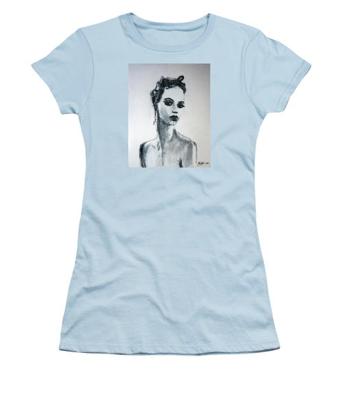 Women's T-Shirt (Junior Cut) featuring the painting Primadonna by Jarmo Korhonen aka Jarko