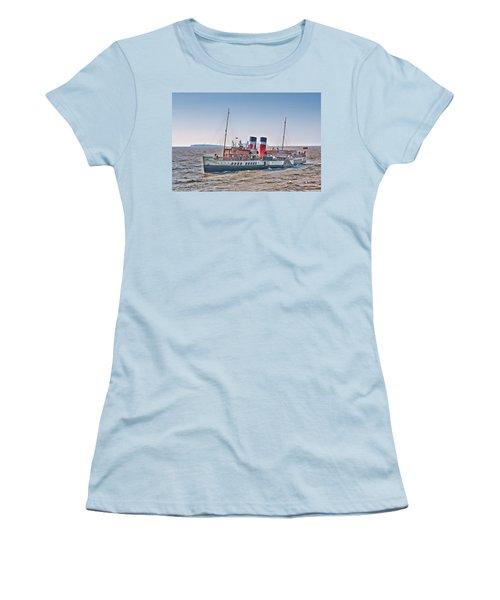 Ps Waverley Approaching Penarth Women's T-Shirt (Junior Cut) by Steve Purnell
