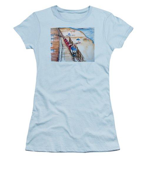Pt Pleasant Nj Sand Train Women's T-Shirt (Athletic Fit)
