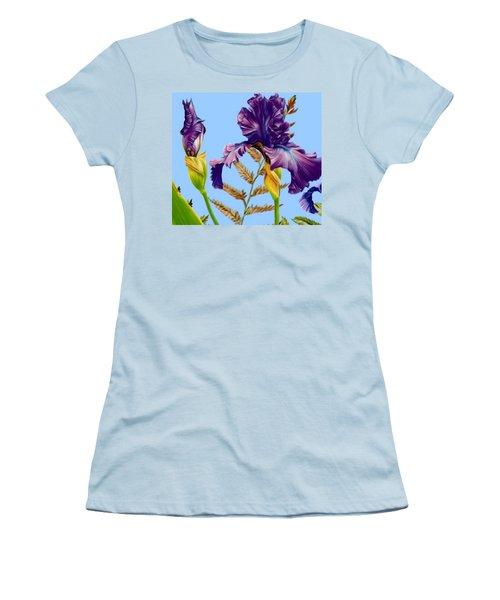 Purple Iris Women's T-Shirt (Athletic Fit)