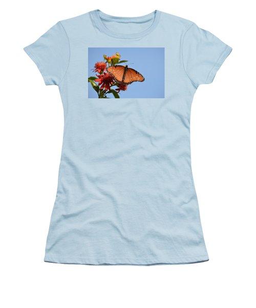 Women's T-Shirt (Junior Cut) featuring the photograph Queen Butterfly by Debra Martz