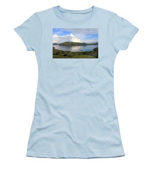 Quiet Bay Women's T-Shirt (Junior Cut) by Sergey Lukashin