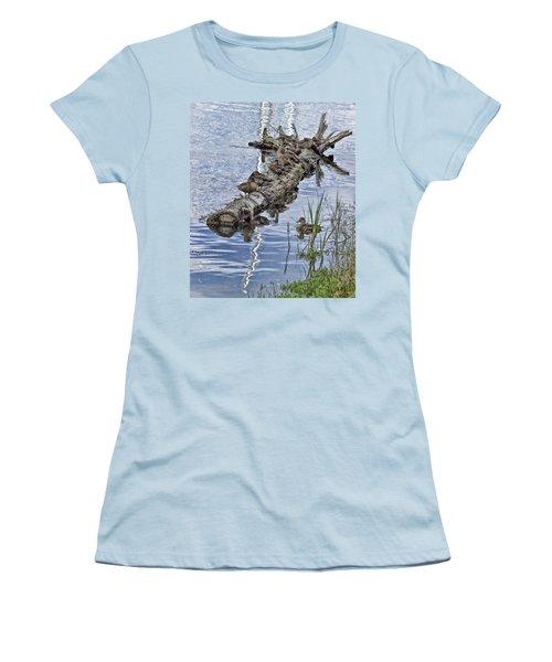 Raft Of Ducks Women's T-Shirt (Junior Cut) by Cathy Anderson