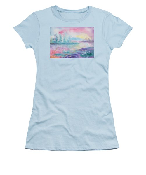 Rainbow Dawn Women's T-Shirt (Athletic Fit)