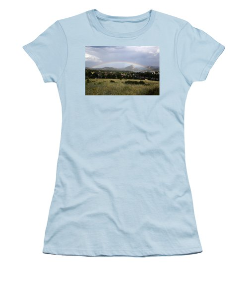 Rainbow Over Lake Estes Women's T-Shirt (Athletic Fit)