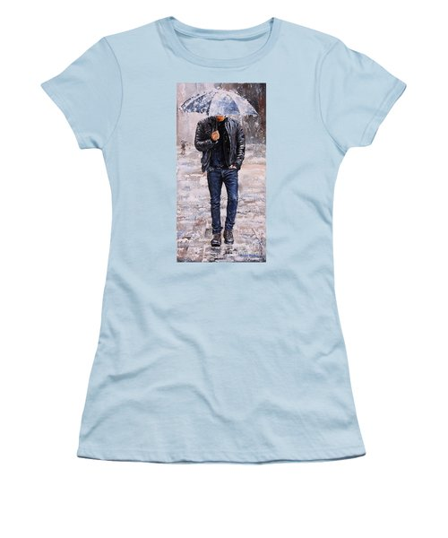 Rainy Day #23 Women's T-Shirt (Athletic Fit)