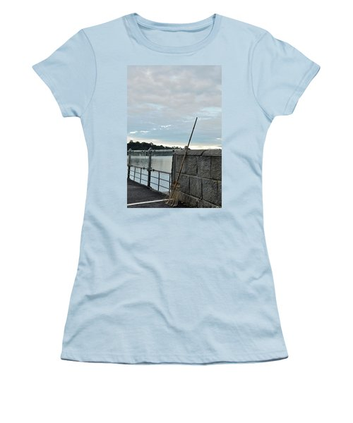 Women's T-Shirt (Junior Cut) featuring the photograph Rake Rests Itself After A Hard Days Work by Imran Ahmed