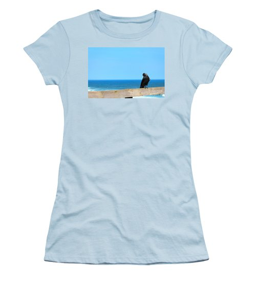 Women's T-Shirt (Junior Cut) featuring the photograph Raven Watching by Peta Thames