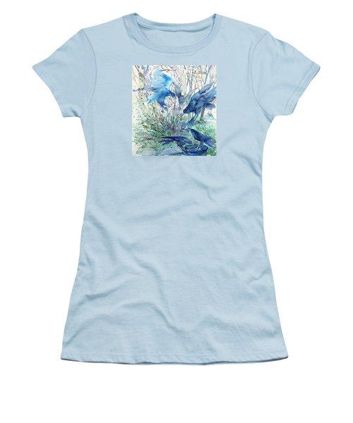Ravens Wood Women's T-Shirt (Junior Cut) by Trudi Doyle