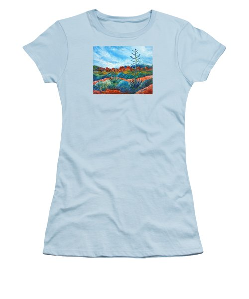 Red Rocks Women's T-Shirt (Junior Cut) by Victoria Lakes