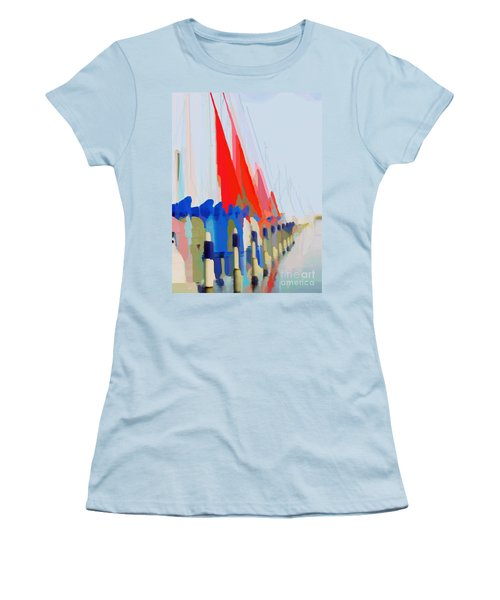 Red Sails In The Sunset Women's T-Shirt (Athletic Fit)